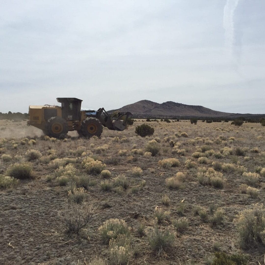 Grassland restoration activities on CO Bar Ranch in the Coconino NRCD