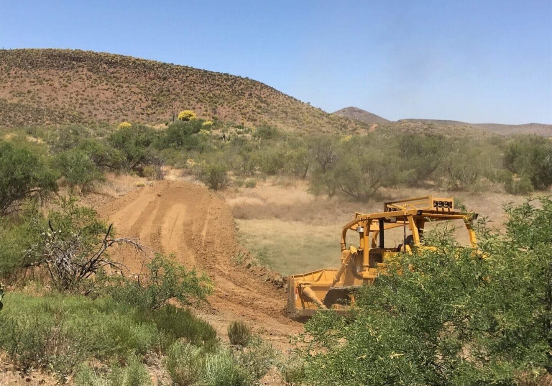 Conservation Practice, Dirt Tank - Photo courtesy of Winkelman NRCD